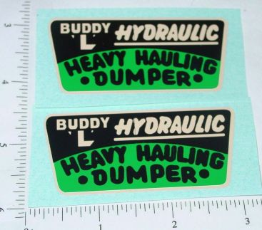 Buddy L Heavy Hauling Dumper Sticker Set Main Image