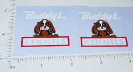 Buddy L Kennels Truck Sticker Set