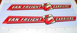 Buddy L Van Freight Lines Sticker Set