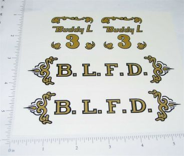Buddy L Ladder Fire Truck Sticker Set Main Image