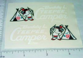Buddy L Tee Pee Camper Sticker Set