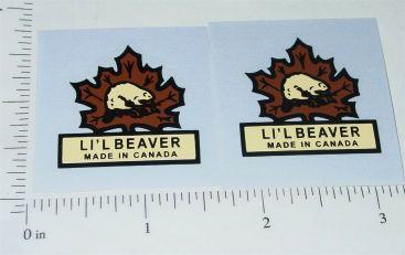 Canadian Lil Beaver Logo Door Stickers Main Image