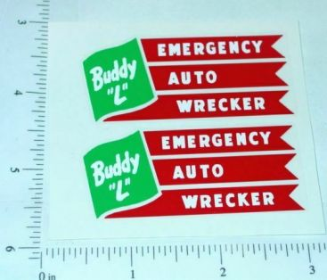 Buddy L Emergency Wrecker Truck Stickers Main Image