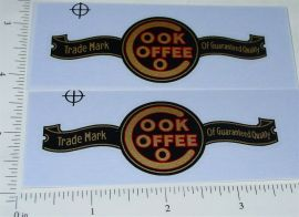 Buddy L Cook Coffee Delivery Van Sticker Set