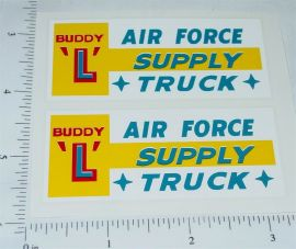 Buddy L Air Force Supply Truck Sticker Set