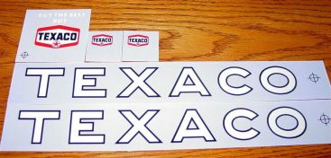 Wen-Mac Texaco Jet Fuel Tanker Sticker Set Main Image