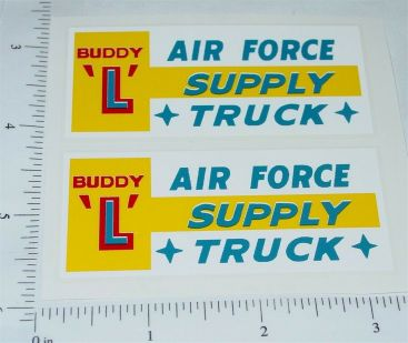 Buddy L Air Force Supply Truck Sticker Set Main Image