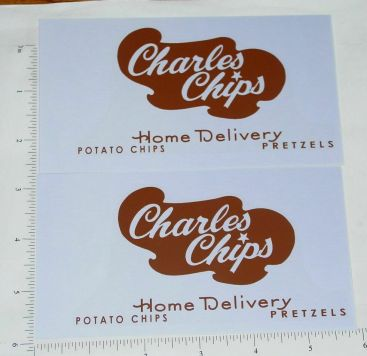 Buddy L Charles Chips Van Sticker Set Main Image