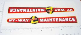 Buddy L Hy-Way Maintenance Truck Sticker Set