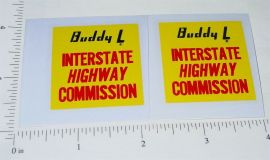 Buddy L Interstate Highway Commission Stickers