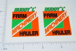 Buddy L Machinery Hauler Semi Truck Stickers