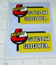Buddy L Steam Shovel Const Vehicle Sticker Set