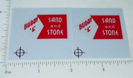 Buddy L Sand & Stone (red) Dump Truck Stickers