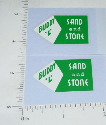 Buddy L Grn/Wht Sand & Stone Dump Sticker Set Main Image