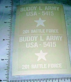Buddy L Army 201 Battle Force Truck Stickers