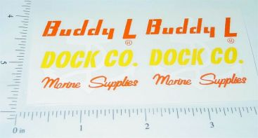 Buddy L Dock Company Truck Sticker Set Main Image