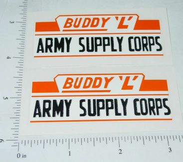 Buddy L Army Supply Corps Style 2 Stickers Main Image