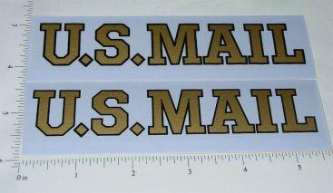 Pair Buddy L US Mail Box Van Sticker Set Main Image