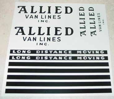 Buddy L Allied Van Lines Pre-War Semi Stickers Main Image