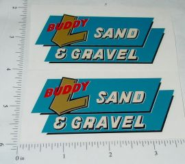 Buddy L Ride On Sand & Gravel Truck Stickers