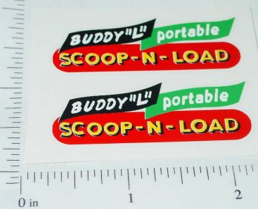 Buddy L Portable Scoop & Load Conveyer Stickers Main Image