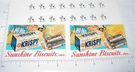 Buddy L Sunshine Biscuits Delivery Van Stickers
