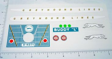 Buddy L Windup Greyhound Bus Sticker  Set Main Image