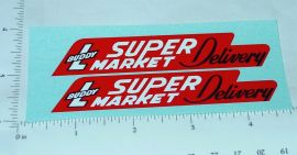 Buddy L Super Market Delivery Truck Stickers