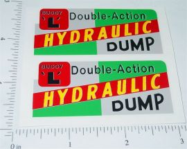 Buddy L Dual Action Hydraulic Dump Sticker Set