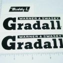 Buddy L Gradall Construction Vehicle Stickers Main Image