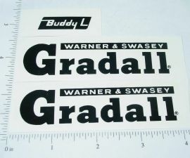 Buddy L Gradall Construction Vehicle Stickers