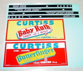 Buddy L Curtis Candy Truck Sticker Set