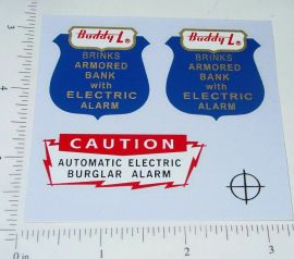 Buddy L GMC Brinks Armored Vehicle Sticker Set