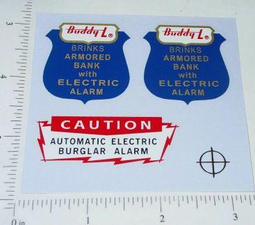 Buddy L GMC Brinks Armored Vehicle Sticker Set Main Image