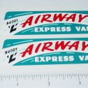 Buddy L GMC Airway Express Van Stickers Main Image