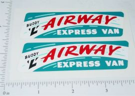 Buddy L GMC Airway Express Van Stickers