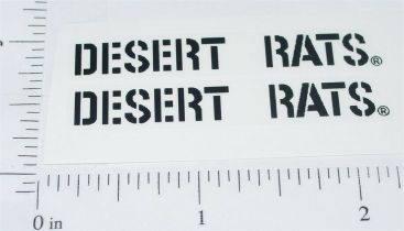 Buddy L Desert Rats Colt Jeep Sticker Set Main Image