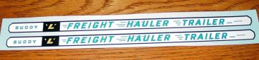 Buddy L GMC Freight Hauler Trailer Stickers Main Image