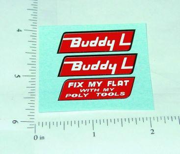 Buddy L Fix My Flat Wrecker Tow Truck Stickers Main Image