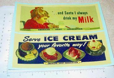 Buddy L REA American Dairy/Santa Truck Stickers Main Image