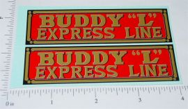 Buddy L Express Line Truck Replacement Stickers