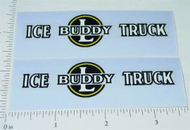 Buddy L Ice Delivery Truck Sticker Set