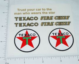 Buddy L Texaco Fire Chief Fire Truck Stickers