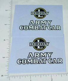 Buddy L Wood Army Combat Car Replacement Stickers