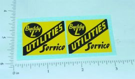 Buddy L Utilities Service Truck Stickers