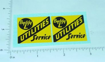 Buddy L Utilities Service Truck Stickers Main Image