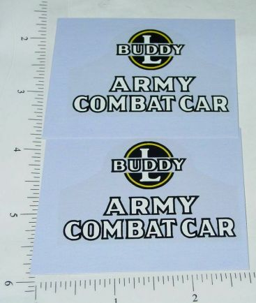 Buddy L Wood Army Combat Car Replacement Stickers Main Image