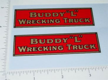 Buddy L Red/Gold Wrecking Truck Stickers Main Image