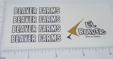 Lil Beaver-Beaver Farms Tractor/Trailer Stickers Main Image