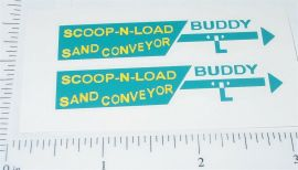 Buddy L Scoop N Load Sand Conveyer Stickers